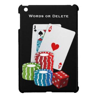 Jugador del casino de los naipes de Black Jack de  iPad Mini Cobertura