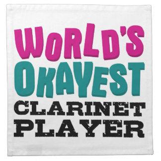 Jugador del Clarinet de Okayest del mundo Servilleta Imprimida