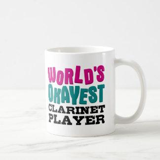 Jugador del Clarinet de Okayest del mundo Taza De Café