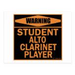 Jugador del Clarinet del alto del estudiante Postales