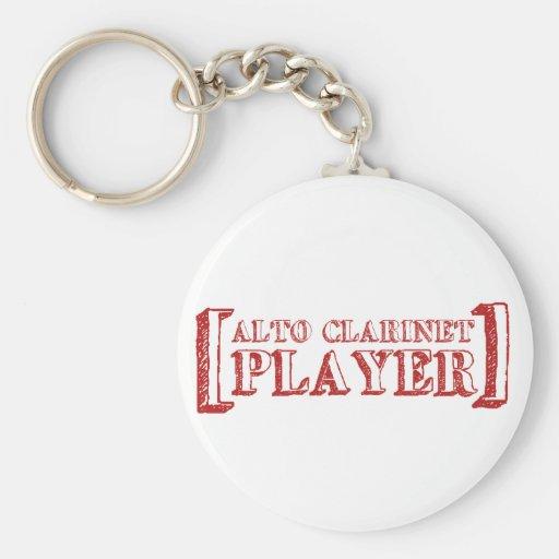 Jugador del Clarinet del alto Llaveros Personalizados