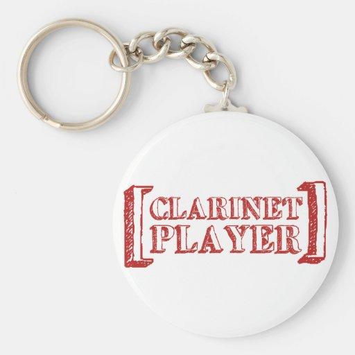 Jugador del Clarinet Llavero Redondo Tipo Pin