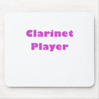 Jugador del Clarinet Tapetes De Ratón
