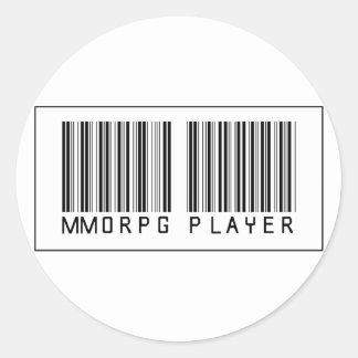 Jugador del código de barras MMORPG Etiquetas Redondas