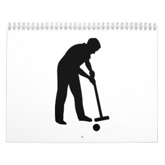 Jugador del croquet calendarios