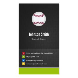 Jugador del entrenador de béisbol - innovador tarjetas de visita