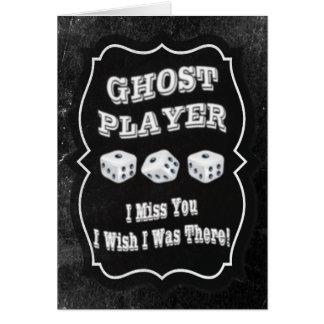 Jugador del fantasma de Bunco Tarjeta De Felicitación