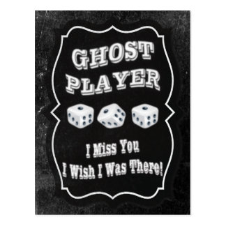 Jugador del fantasma de Bunco Tarjetas Postales