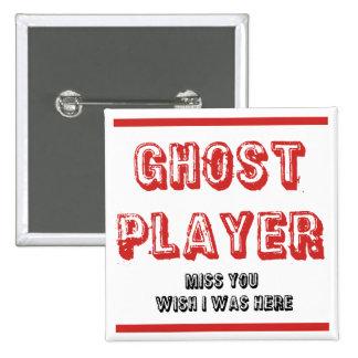 jugador del fantasma del bunco pin cuadrada 5 cm