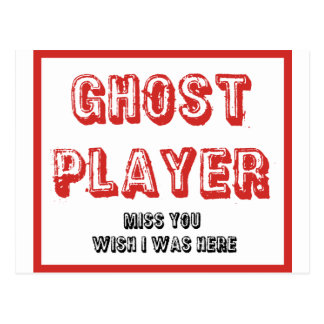 jugador del fantasma del bunco postales