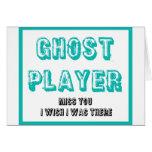 jugador del fantasma del bunco tarjeta