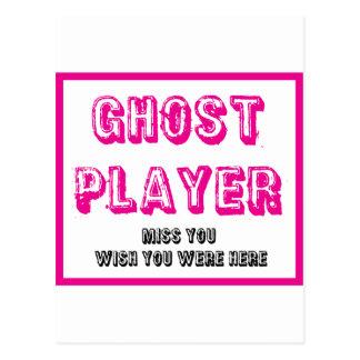 jugador del fantasma del bunco tarjetas postales