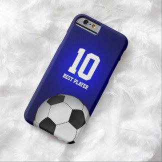 Jugador del fútbol del fútbol el   el mejor no funda de iPhone 6 barely there