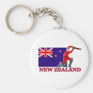 Jugador del grillo de Nueva Zelanda Llavero Redondo Tipo Pin