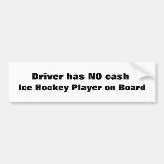 Jugador del hockey sobre hielo a bordo… Pegatina p Pegatina De Parachoque