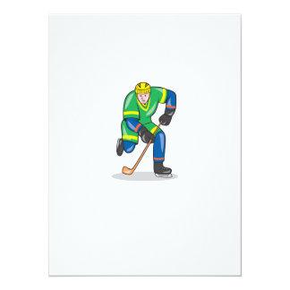 Jugador del hockey sobre hielo con el dibujo comunicado personal