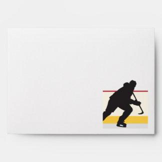 jugador del hockey sobre hielo en el movimiento