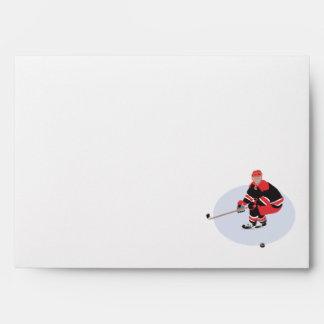 jugador del hockey sobre hielo listo para pegar