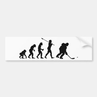 Jugador del hockey sobre hielo pegatina para auto