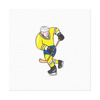 Jugador del hockey sobre hielo que celebra el dibu