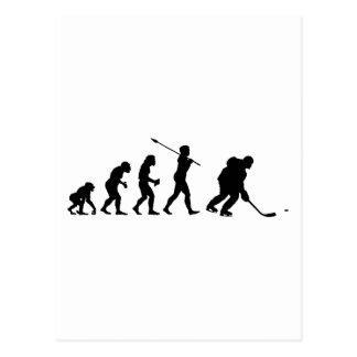 Jugador del hockey sobre hielo tarjetas postales