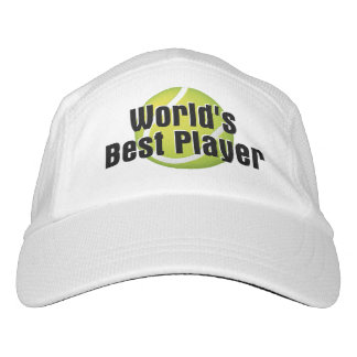 Jugador del mundo del tenis el mejor gorra de alto rendimiento
