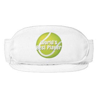 Jugador del mundo del tenis el mejor visera