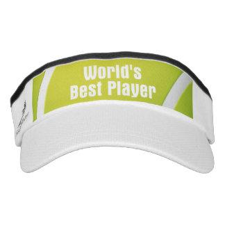 Jugador del mundo del tenis el mejor viseras de alto rendimiento
