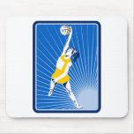 jugador del netball que coge pasando la bola alfombrilla de raton
