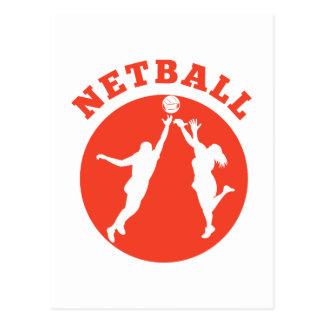 Jugador del Netball que rebota para la bola Postal