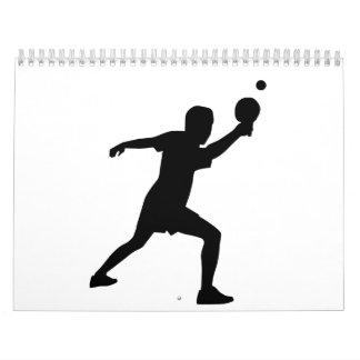 Jugador del ping-pong calendario