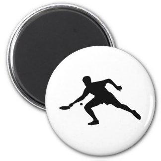 Jugador del ping-pong imán redondo 5 cm