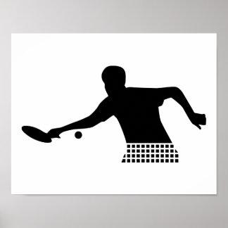 Jugador del ping-pong poster