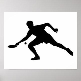Jugador del ping-pong póster