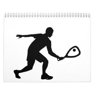 Jugador del Racquetball Calendarios