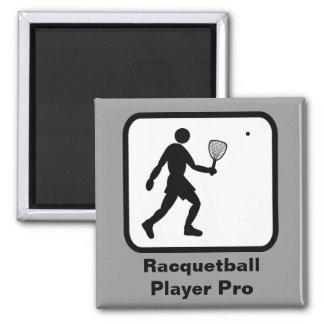 Jugador del Racquetball favorable Imán Cuadrado