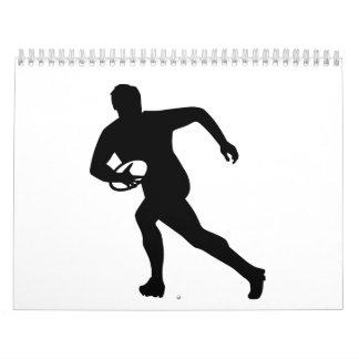 Jugador del rugbi calendarios