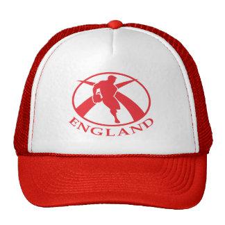 Jugador del rugbi de Inglaterra que pasa la bander Gorro De Camionero