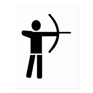 Jugador del tiro al arco postales