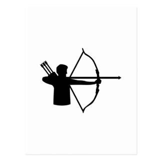 Jugador del tiro al arco postal