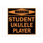Jugador del Ukulele del estudiante Postal