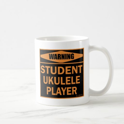 Jugador del Ukulele del estudiante Taza De Café