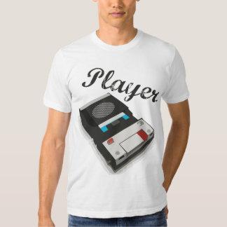 Jugador del vintage playeras