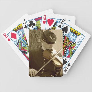 Jugador del violín de la guerra civil barajas
