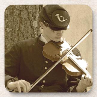 Jugador del violín de la guerra civil posavasos