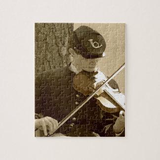 Jugador del violín de la guerra civil rompecabeza con fotos