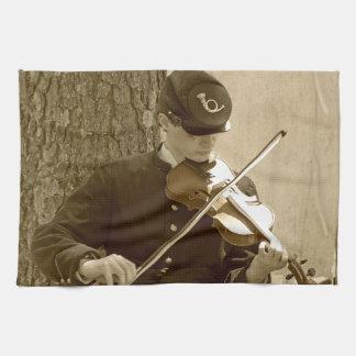 Jugador del violín de la guerra civil toalla