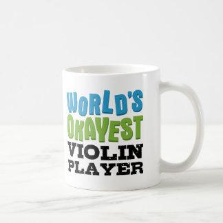 Jugador del violín de Okayest del mundo Taza Básica Blanca
