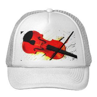 Jugador del violín o casquillo de la banda gorro