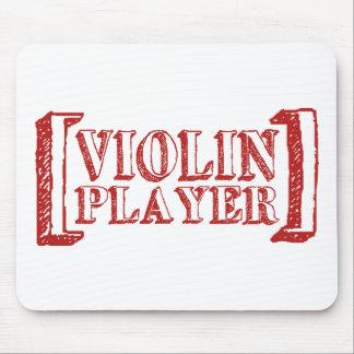Jugador del violín tapetes de raton